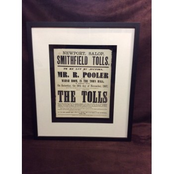 A Framed Newport Smithfield Tolls Poster (1867)