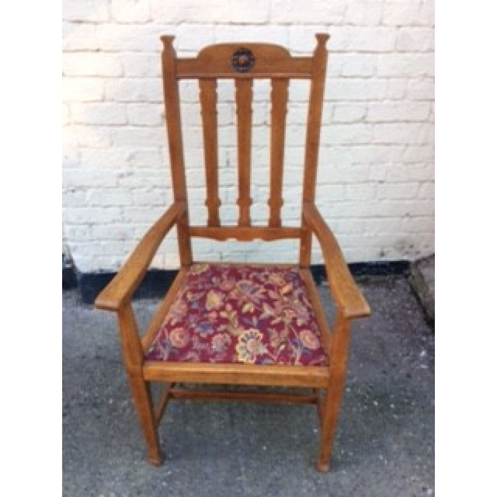 Arts & Crafts Oak Elbow Chair